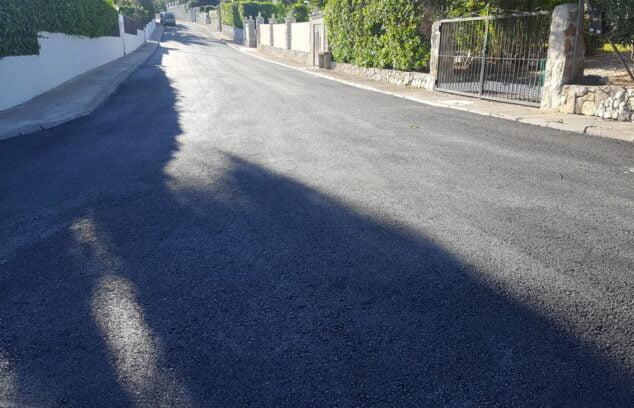 Imagen: Plan de asfaltado en Xàbia