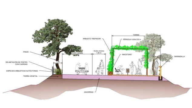 Imagen: Plano del proyecto de la zona del Moraig