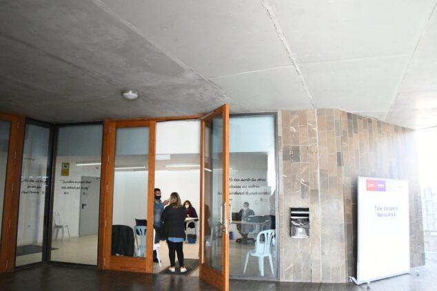 Imagen: Sala Polivalente habilitada para tramitación de ayudas COVID-19