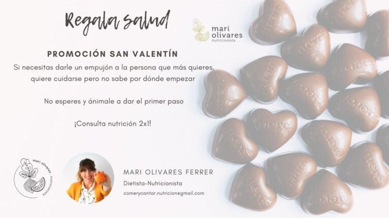 Oferta de San Valentín de Dietista-Nutricionista Mari Olivares