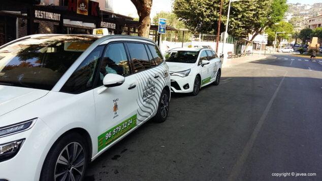 Imagen: Taxis en Xàbia