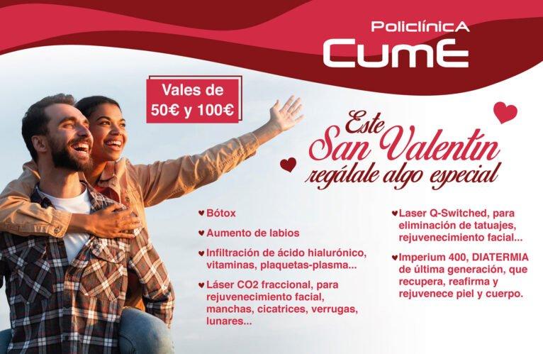 Vales regalo de San Valentín de Policlínica CUME