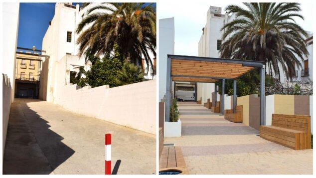 Imagen: Antes y después de la calle Llebeig