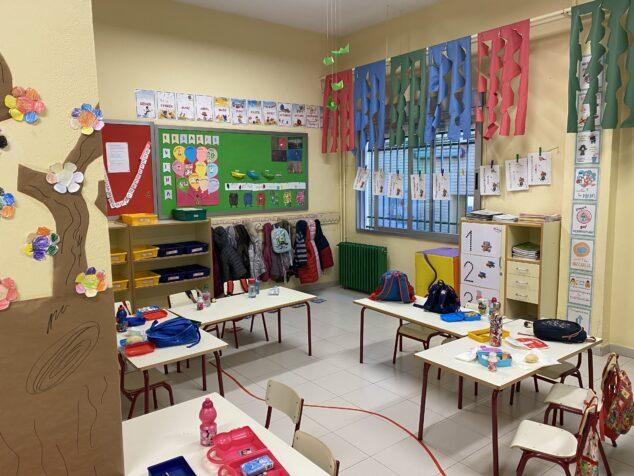 Imagen: Aula de infantil del CEIP Mediterrània