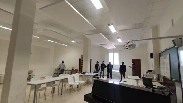 Imagen: Benitatxell insonoriza las aulas de la Escuela de Música