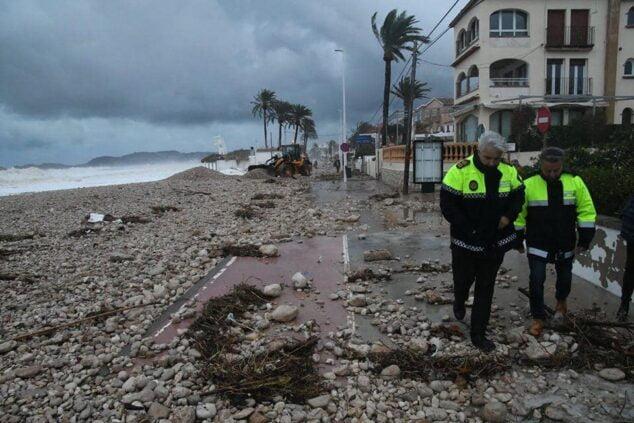 Imagen: Destrozos del temporal Gloria