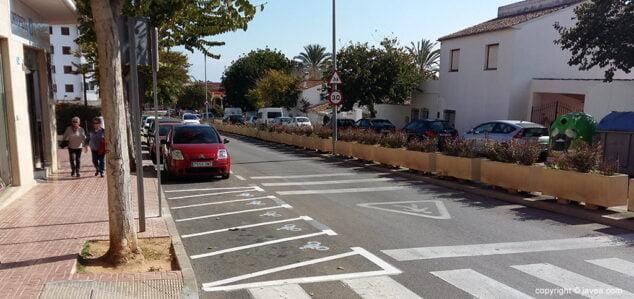 Imagen: Estacionamiento en Xàbia