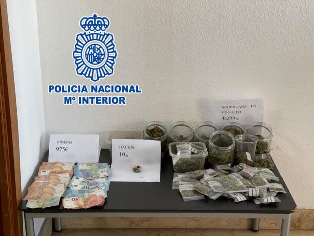 Imagen: Material incautado por la Policía Nacional