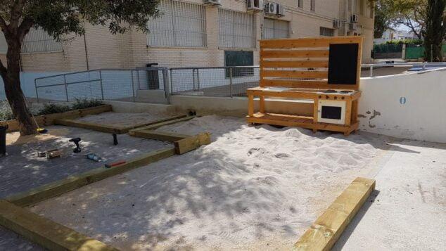 Imagen: Nuevo espacio de juego infantil en el CEIP Trenc d'Alba
