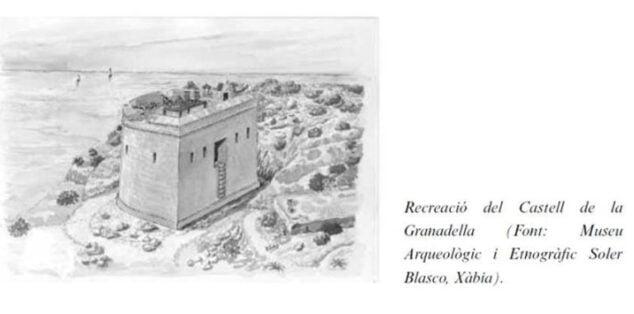 Imagen: Recreación del Castell de la Granadella (Fuente Museo Soler Blasco)