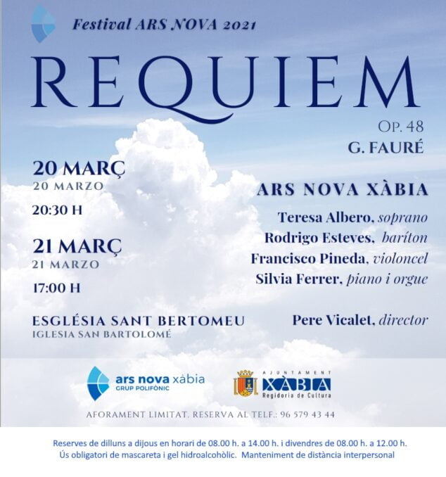 Imagen: Concierto de Ars Nova: Requiem