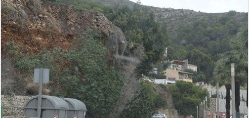 Imagen: Talud del Puerto de Xàbia a reparar