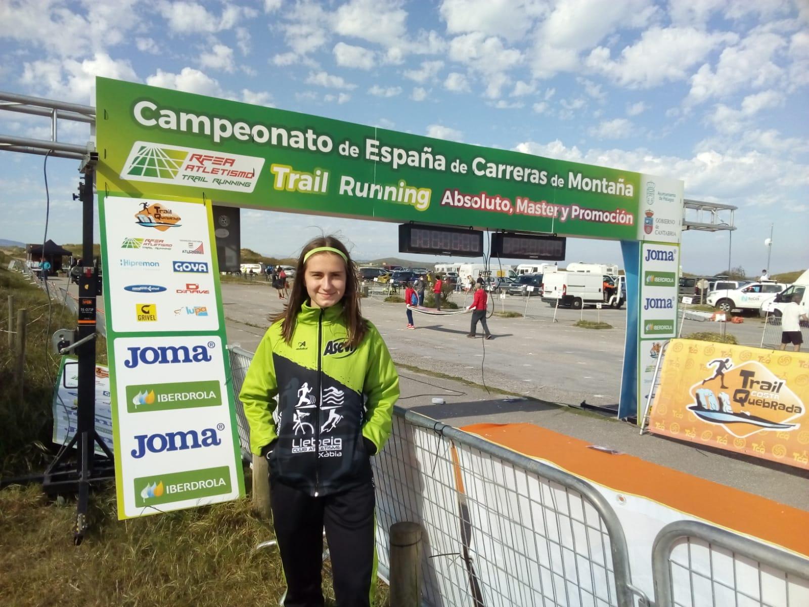Ana González en la Carrera de Montaña