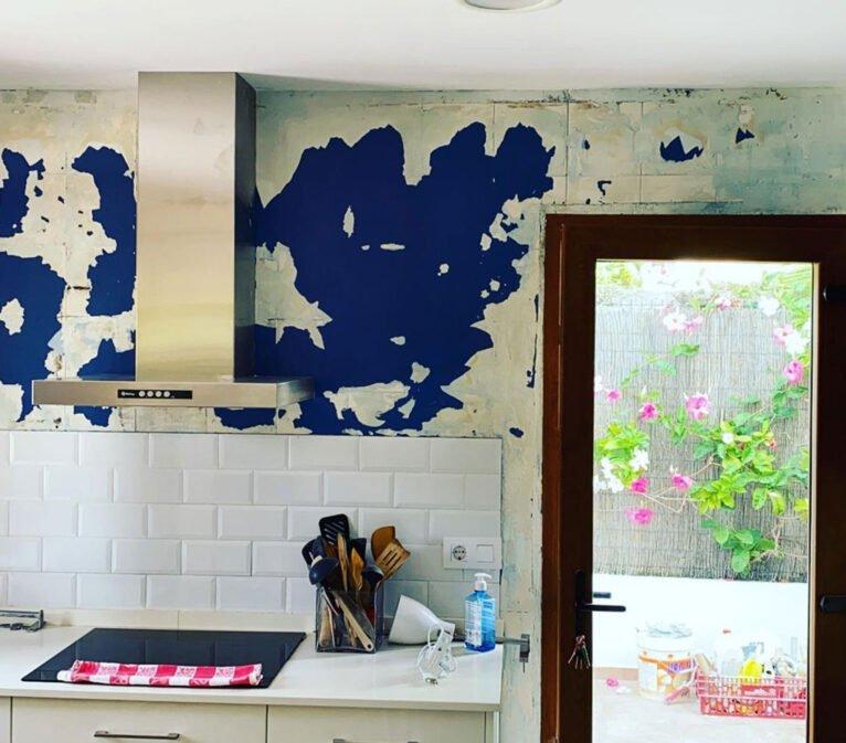 Antes de la pintura de una cocina - Pinturas Juanvi Ortolà