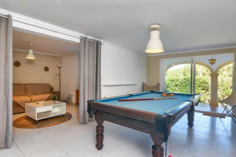 Sala de billar en una casa de alquiler para vacaciones en Jávea - Aguila Rent a Villa