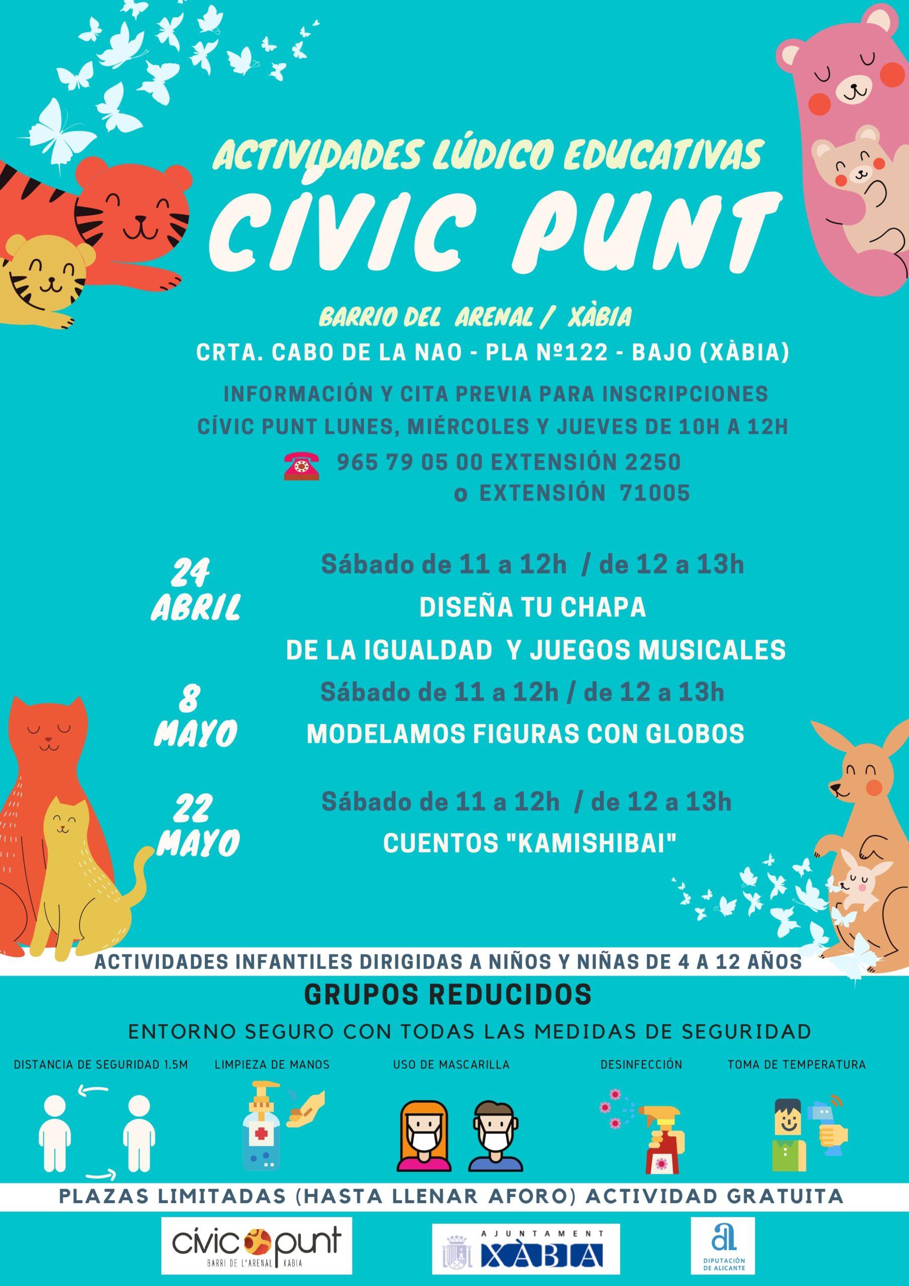 Cartel de actividades del Civic Punt