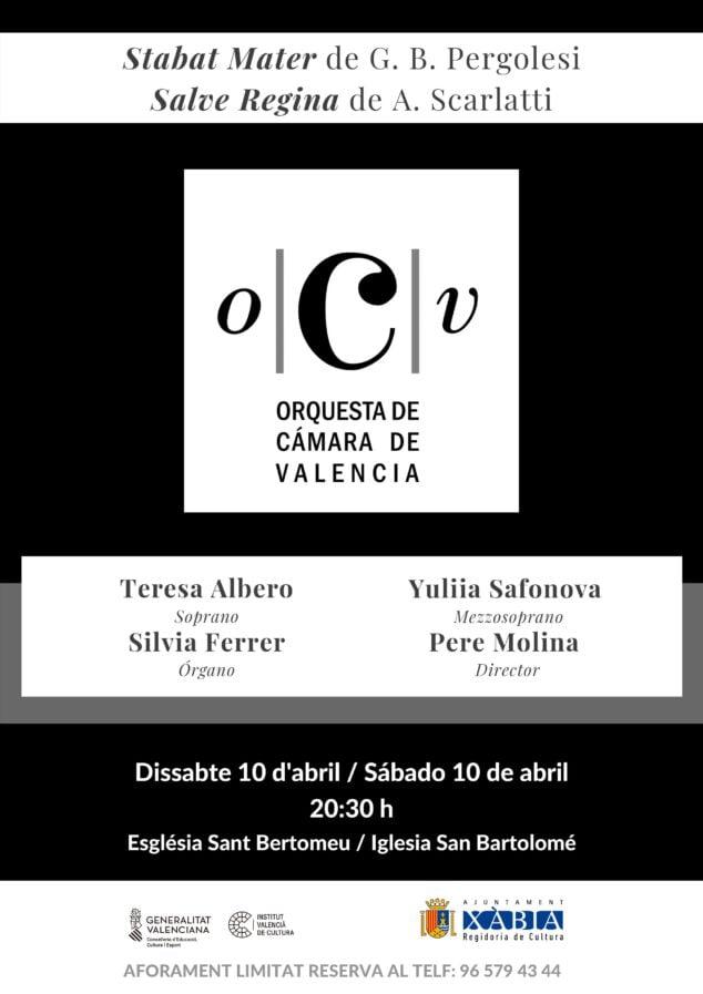 Imagen: Cartel del Concierto de la OCV Stabat Mater Xàbia