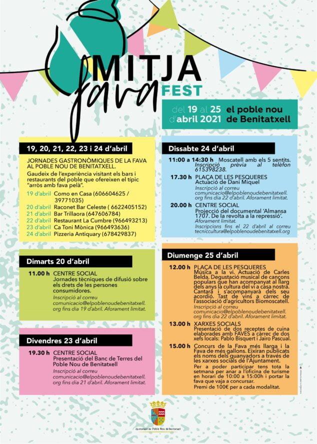 Imagen: Cartel del Mitjafava Fest 2021