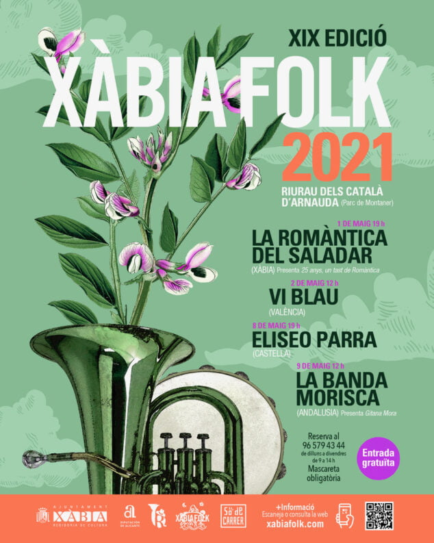 Imagen: Cartel Xàbia Folk 2021