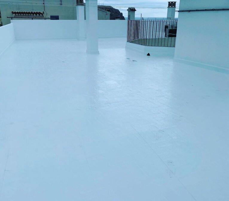 Después de la impermeabilización de una terraza - Pinturas Juanvi Ortolà