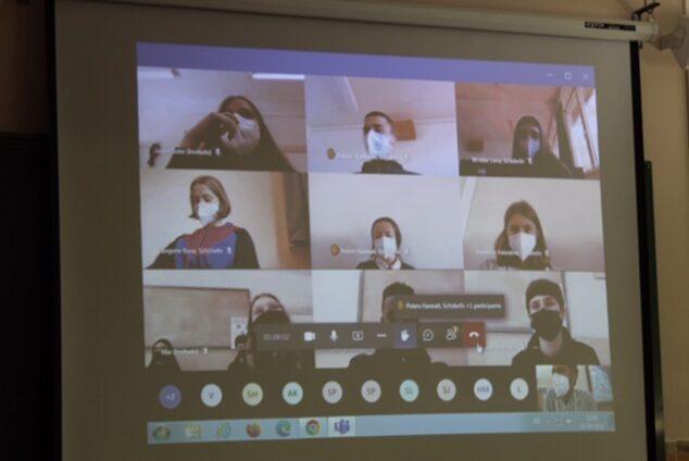 Imagen: Jornada por videoconferencia de los alumnos