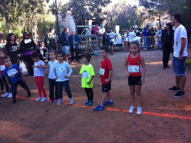 Imagen: Los más pequeños en una prueba de cross