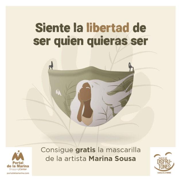 Imagen: Mascarilla con el diseño de Marina Sousa - Portal de la Marina