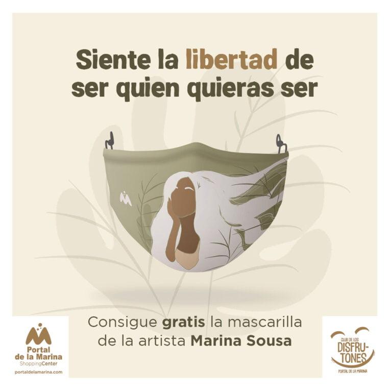 Mascarilla con el diseño de Marina Sousa - Portal de la Marina