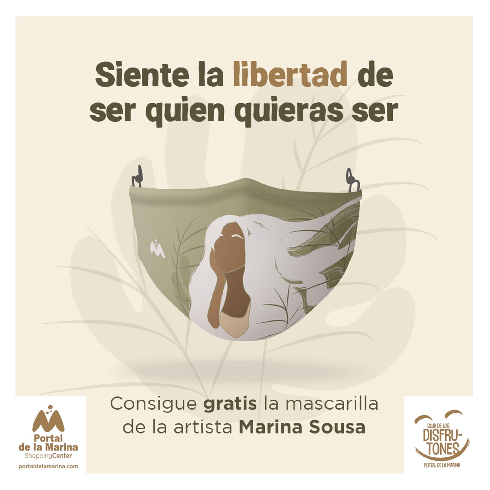 Mascarilla con el diseño de Marina Sousa – Portal de la Marina