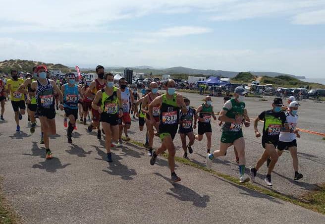 Nasio Cardona durante la carrera