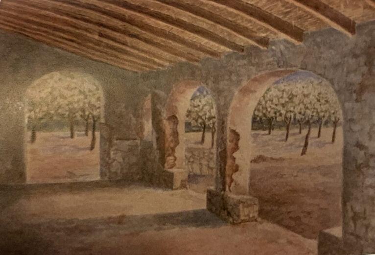 Pintura del Riurau de Les Cansalades de Rosa Cortell