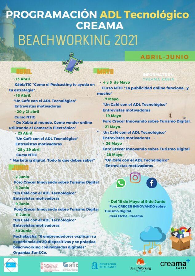 Imagen: Programación Beachworking 2º trimestre 2021