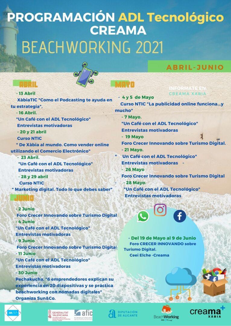 Programación Beachworking 2º trimestre 2021