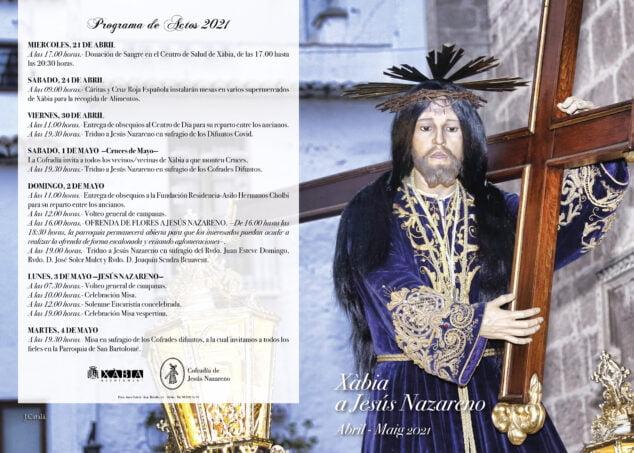 Imagen: Programación de actos en honor a Jesús Nazareno