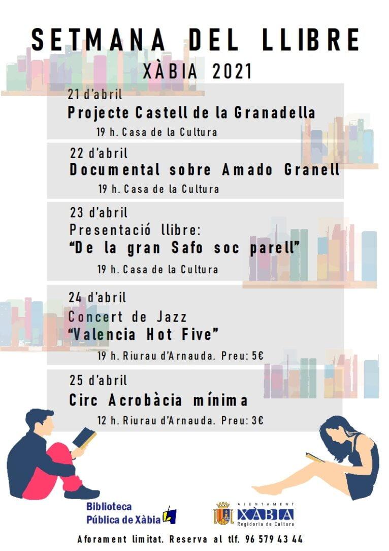 Programación Día del Libro Xàbia 2021