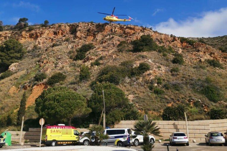 Despliegue en el rescate de esta mañana en Xàbia, en el entorno del PR CV 355