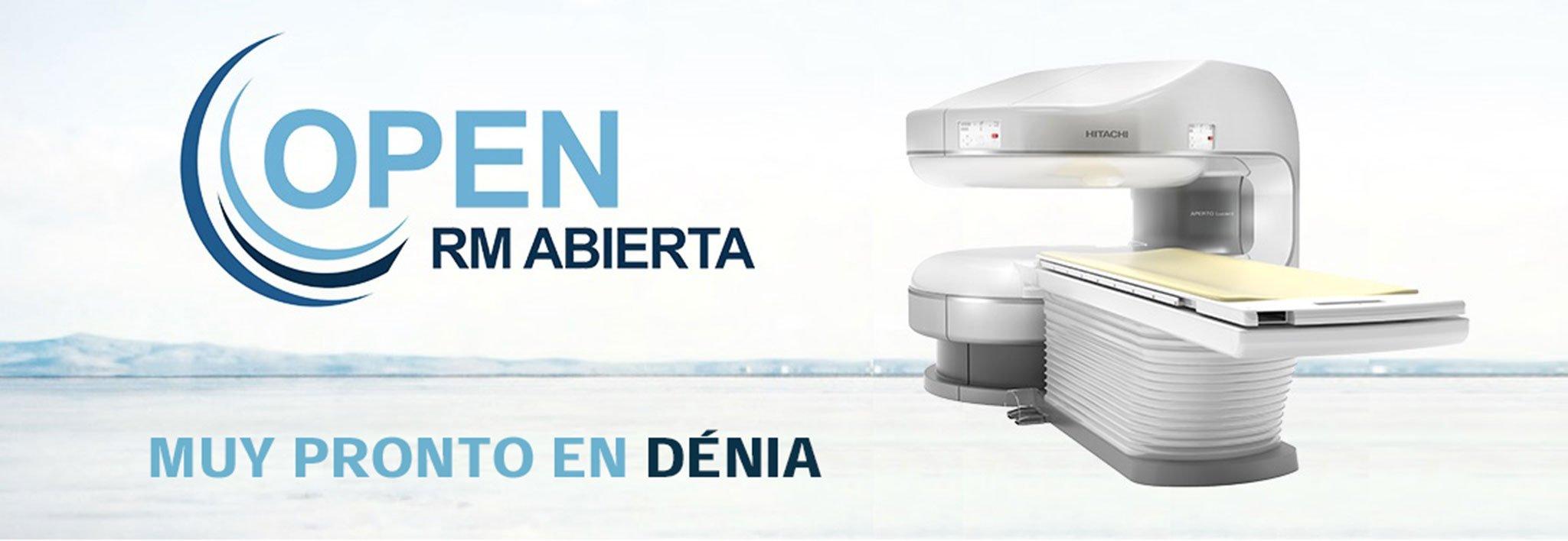 Resonancia magnética abierta en Dénia