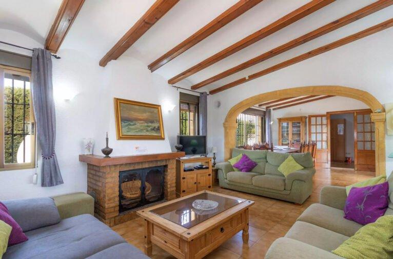 Salón de una villa en venta en el campo en Jávea - Vicens Ash Properties