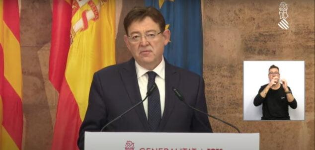 Imagen: Ximo Puig, president de la Generalitat Valenciana