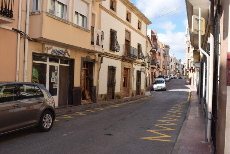 Zonas aparcamiento habilitadas en El Poble Nou de Benitatxell