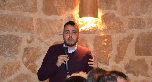 Imagen: Alejandro Aguilar en la presentación de lista de Podem Xàbia