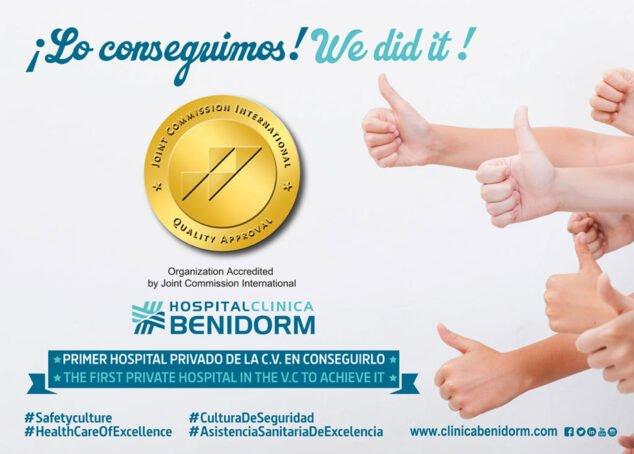 Imagen: Hospital Clínica Benidorm consigue la mayor acreditación internacional