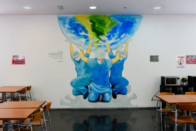 Imagen: Homenaje del Club Rotary a los sanitarios
