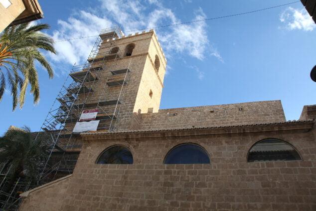 Imagen: Obras de restauración de la Iglesia San Bartolomé