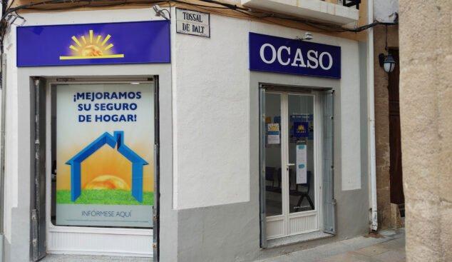 Imagen: Exterior de la oficina de Ocaso Jávea