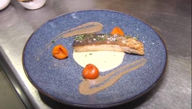 Imagen: Plato de corvina cocinado en Cala Bandida