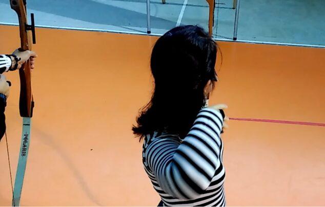 Imagen: Postura en el lanzamiento de tiro con arco