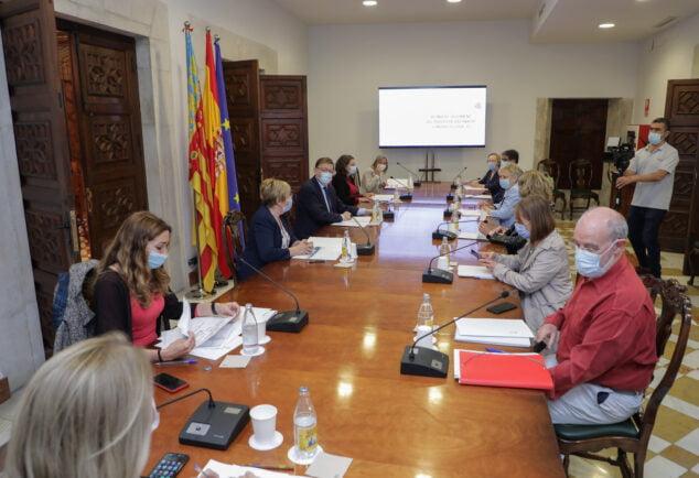 Imagen: Reunión del President de la Generalitat