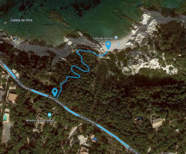 Imagen: Ruta a pie a la Cala del Francés