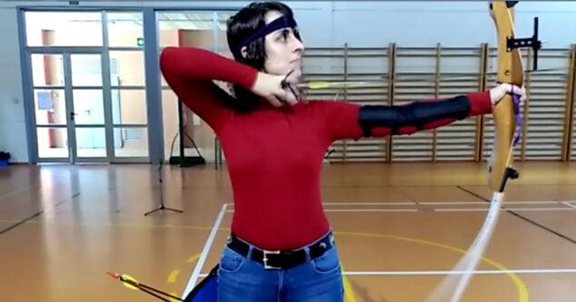 Imagen: Técnica de tiro con arco